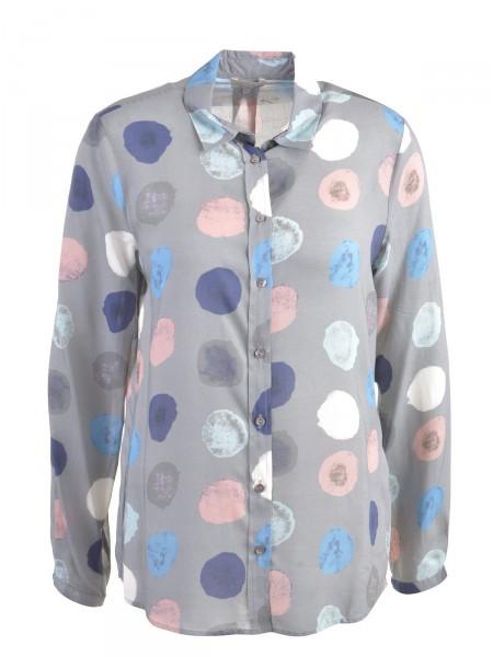 MILANO ITALY Damen Bluse, grau-blau