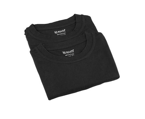 MILANO ITALY Herren T-Shirt 2er-Pack, schwarz