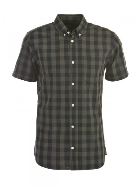 JACK & JONES Herren Hemd, oliv-schwarz