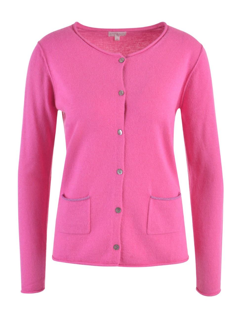 Jacken - MILANO ITALY Damen Strickjacke, pink  - Onlineshop Designermode.com