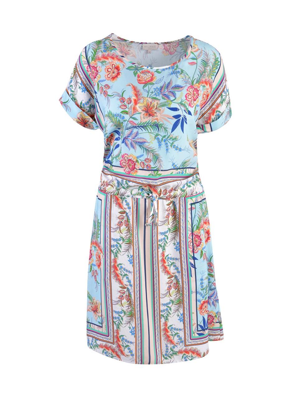 Kleider - MILANO ITALY Damen Kleid, blau  - Onlineshop Designermode.com