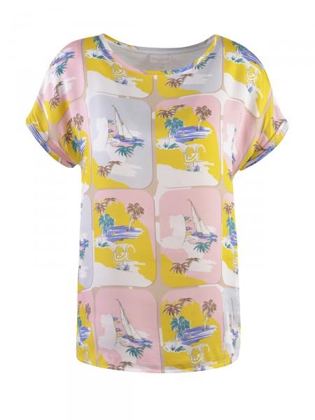 MILANO ITALY Damen T-Shirt, gelb