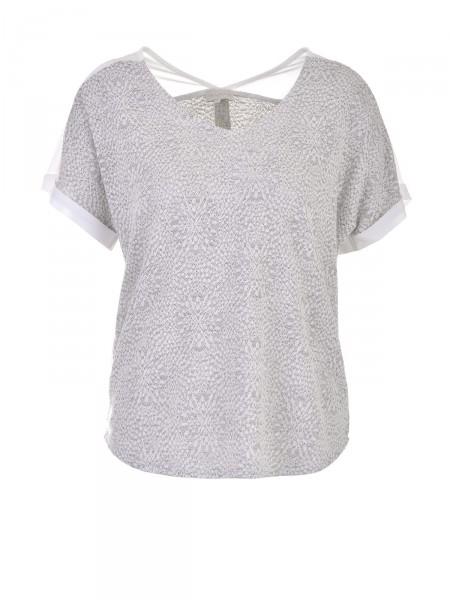 MILANO ITALY Damen T-Shirt, grau-creme