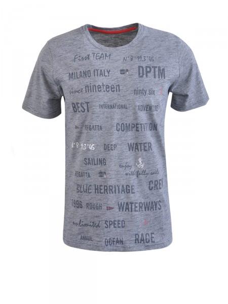 MILANO ITALY Herren T-Shirt, navy-weiß