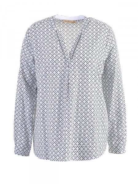 SMITH & SOUL Damen Bluse, weiß-navy