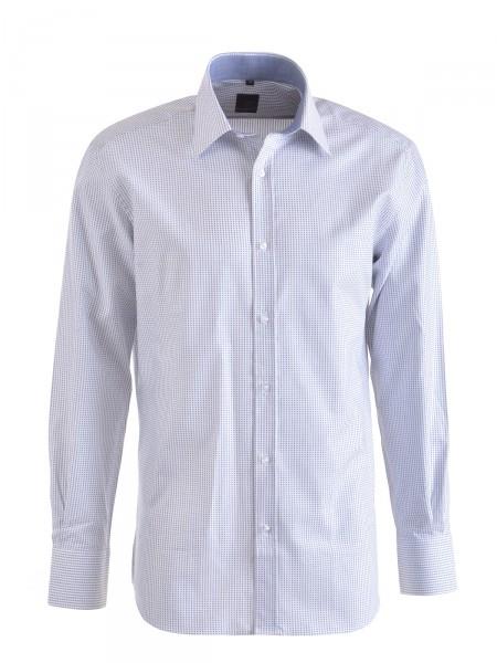 MILANO ITALY Herren Hemd, weiß-blau