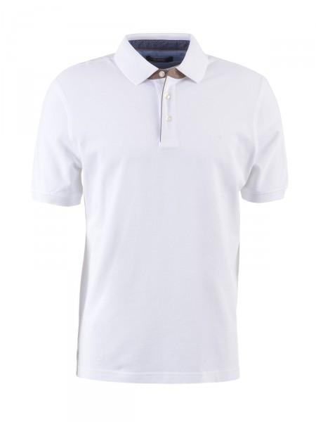 BUGATTI Herren Poloshirt, weiß
