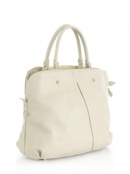 """MILANO ITALY Tasche """"1063"""" aus Leder, beige"""