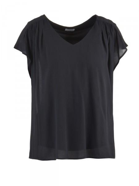 VILA Damen T-Shirt, schwarz