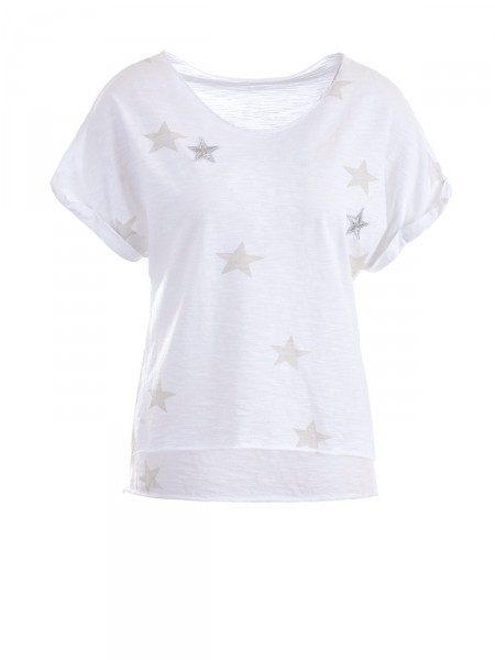 HEARTKISS Damen T-Shirt, weiß
