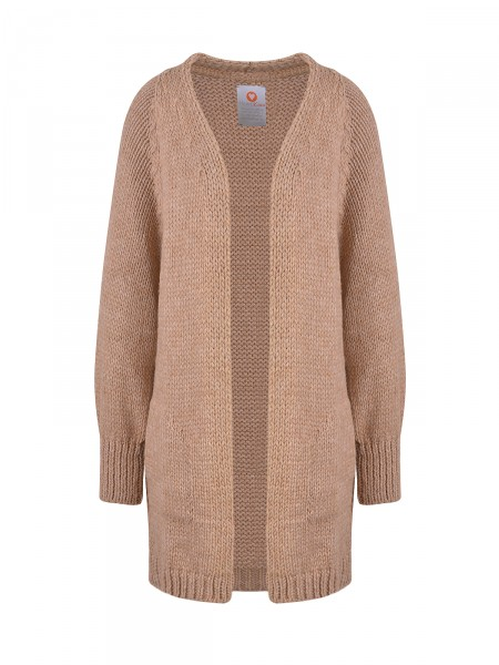 HEARTKISS Damen Strickjacke, camel