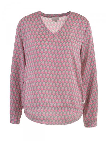 MILANO ITALY Damen Bluse, grau-pink