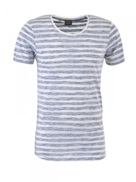 JACK & JONES Herren T-Shirt, blau-creme