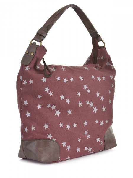 Canvas Damen Tasche, bordeaux