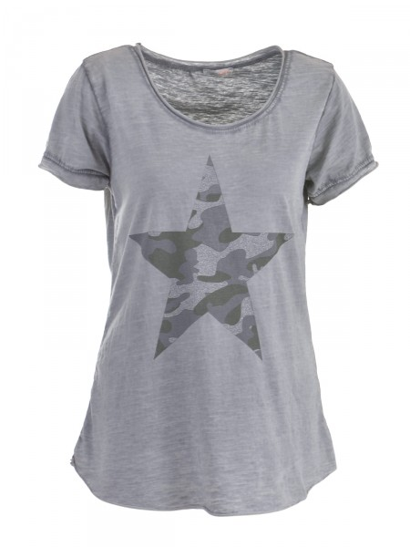 HEARTKISS Damen T-Shirt, grau