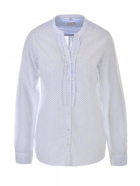 MILANO ITALY Damen Bluse, weiß-blau