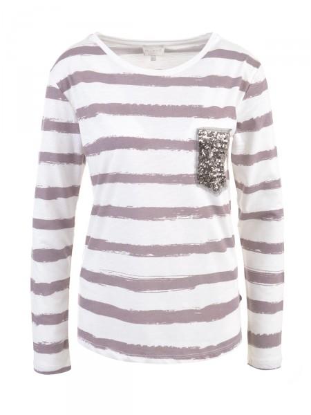 MILANO ITALY Damen Shirt, creme-braun