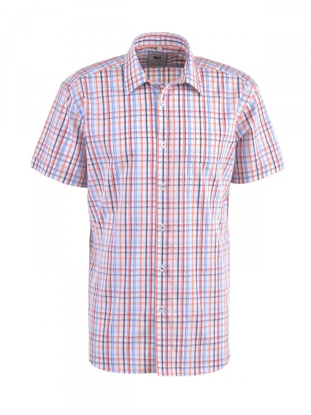 MILANO ITALY Herren Hemd, orange-weiß