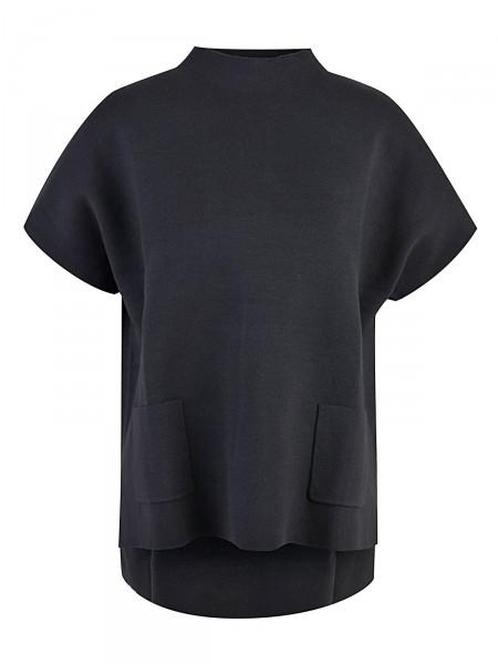 MILANO ITALY Damen Strickshirt, schwarz