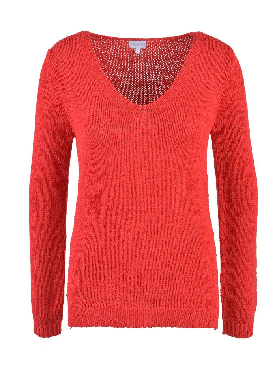 Oberteile - MILANO ITALY Damen Pullover, rot  - Onlineshop Designermode.com