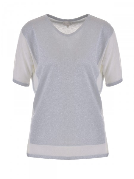 MILANO ITALY Damen Shirt, grau-creme