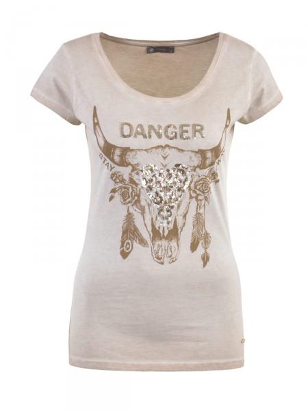 DECAY Damen T-Shirt, beige
