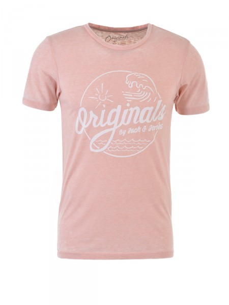 JACK & JONES Herren T-Shirt, rosa