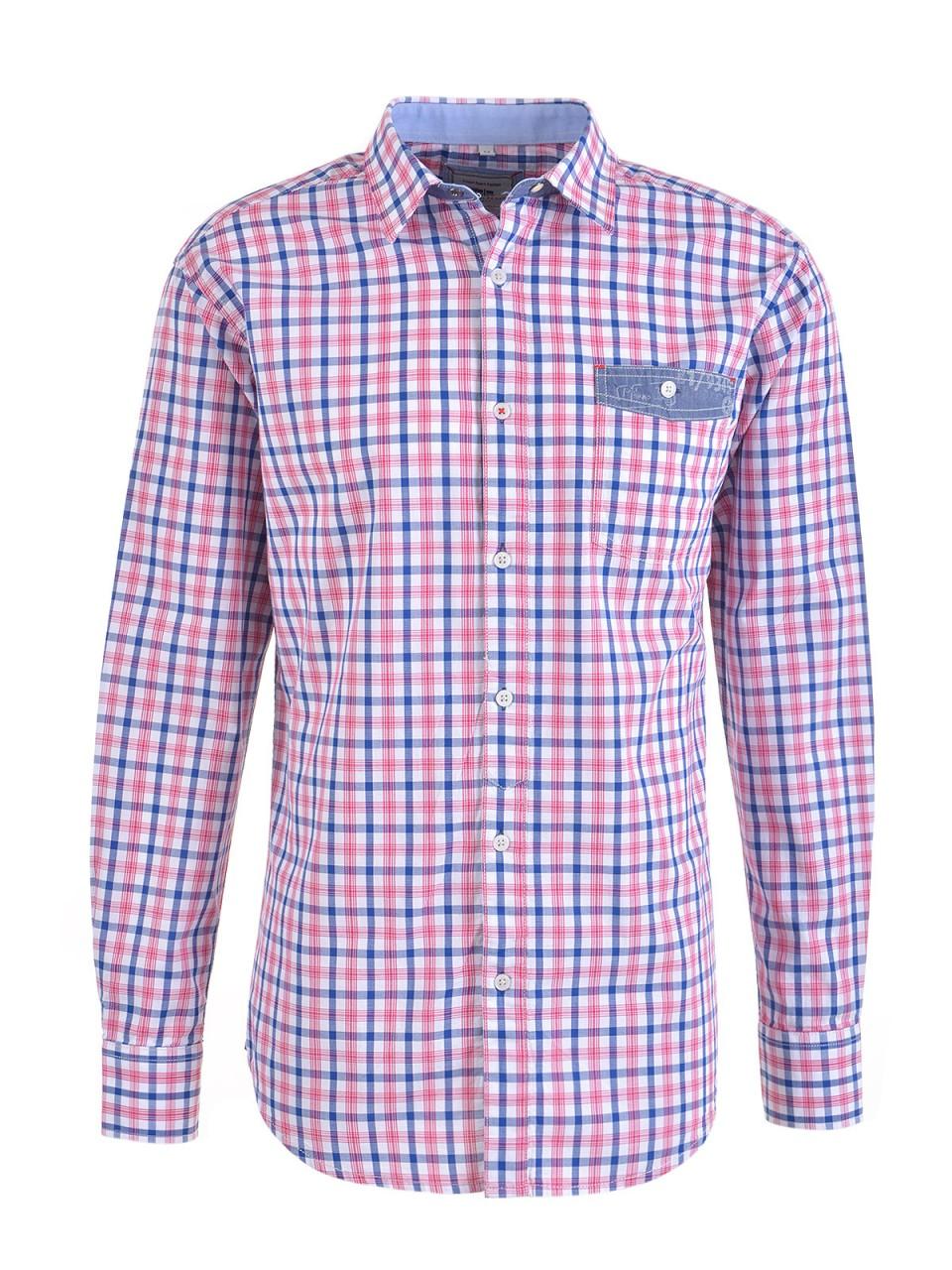 milano-italy-herren-hemd-rot-blau, 27.97 EUR @ designermode-com-mode