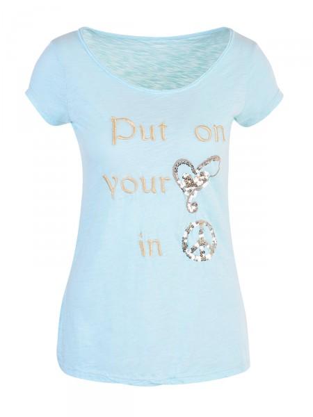 D&F FASHION Damen T-Shirt, türkis