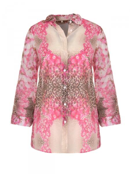 MILANO ITALY Damen Bluse, beige-pink