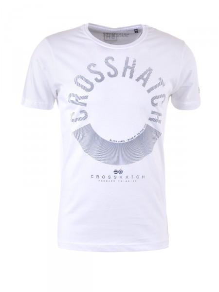 CROSSHATCH Herren T-Shirt, weiß