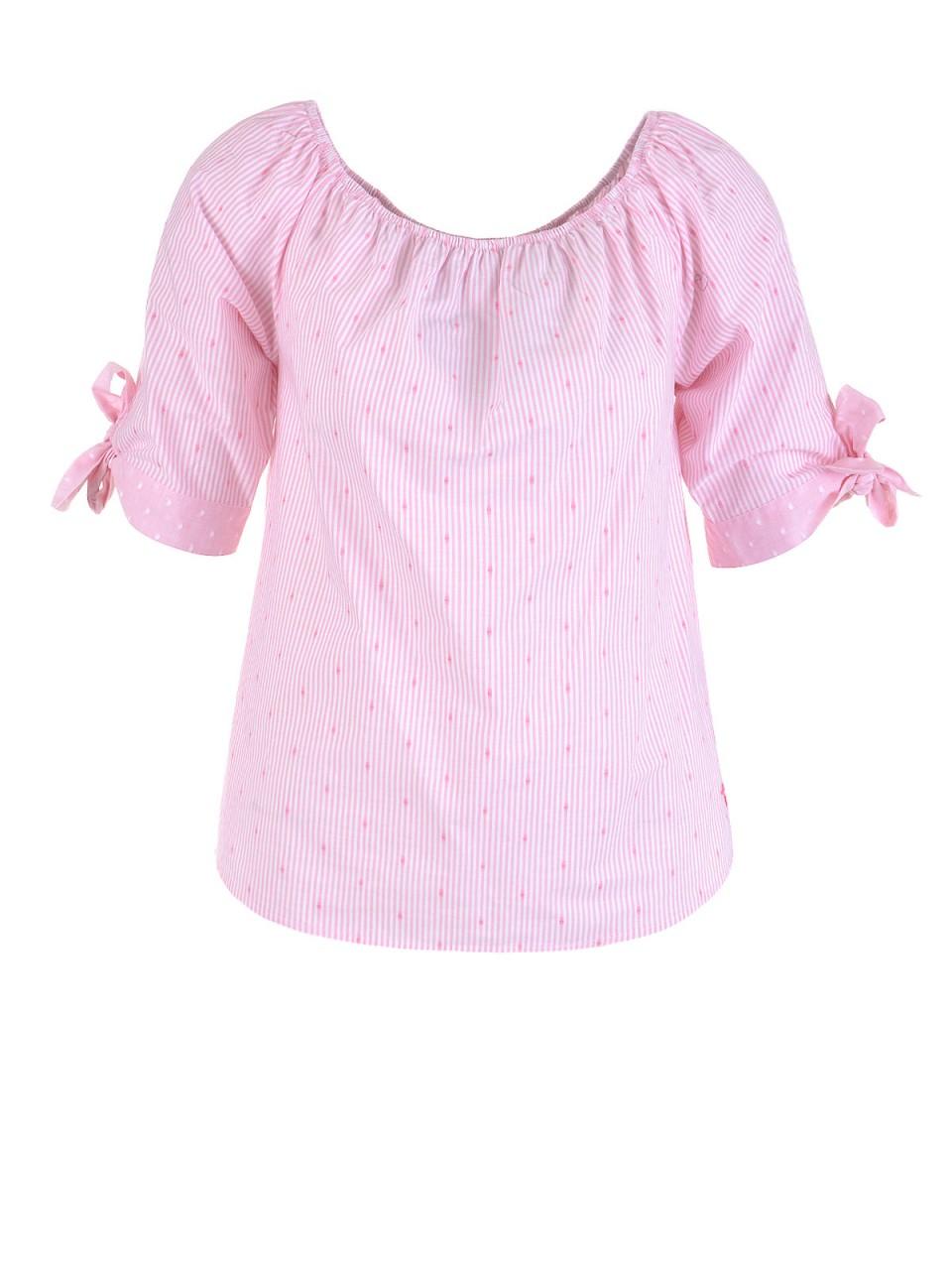 milano-italy-damen-bluse-rosa-wei-szlig-, 39.95 EUR @ designermode-com-mode