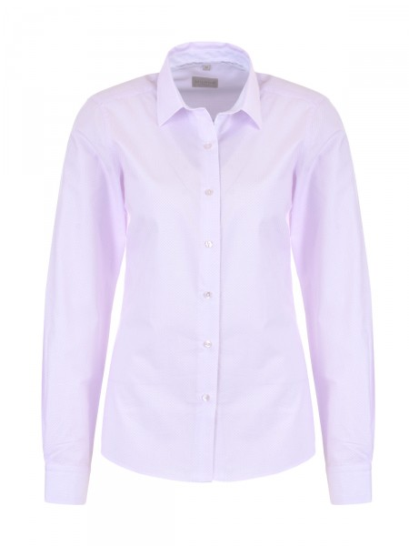 MILANO ITALY Damen Bluse, weiß-rosa
