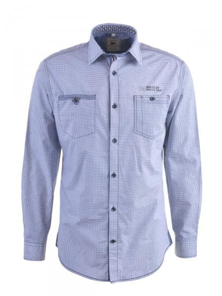 MILANO ITALY Herren Hemd, blau-weiß