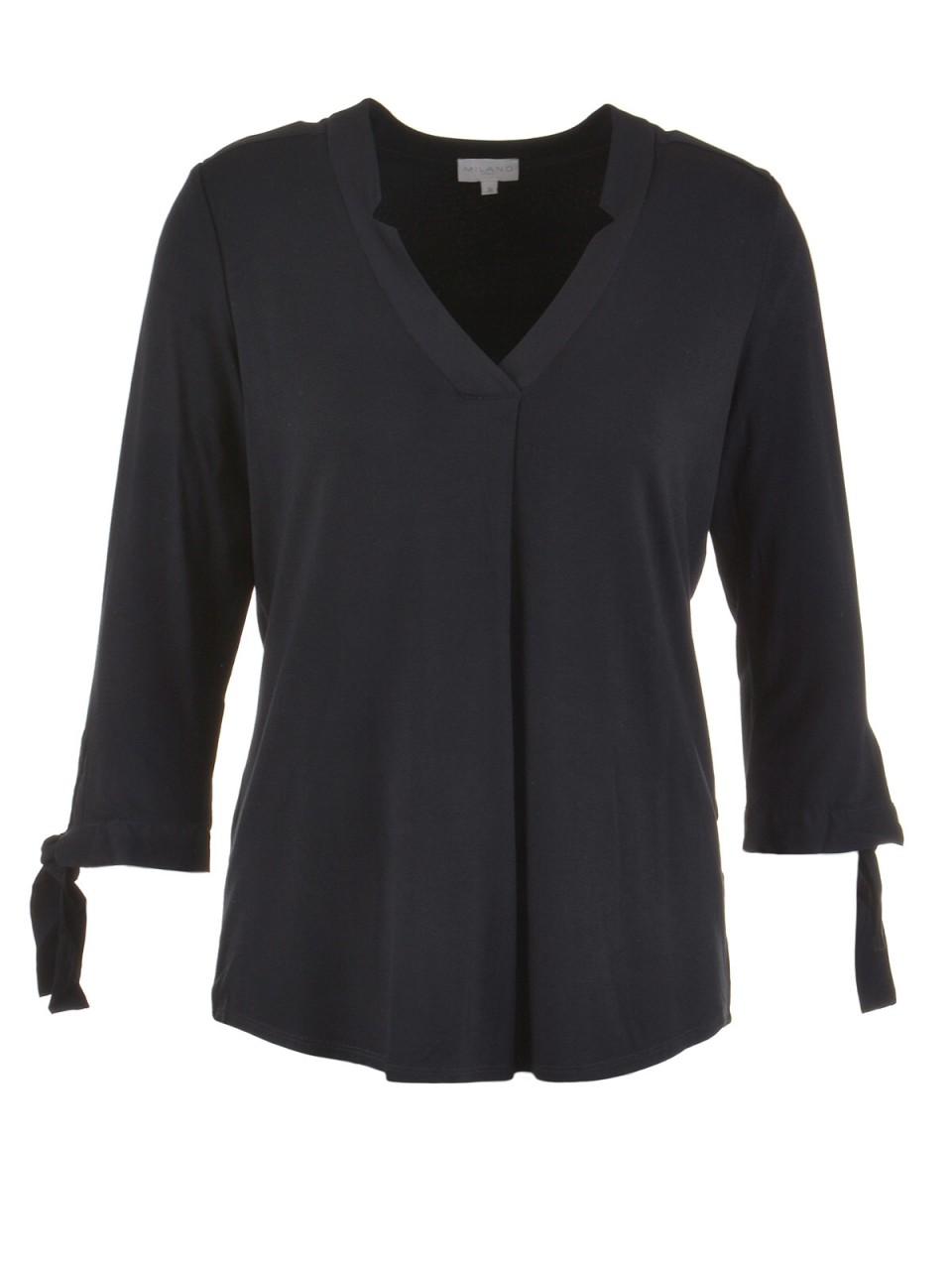 milano-italy-damen-bluse-schwarz, 59.95 EUR @ designermode-com-mode