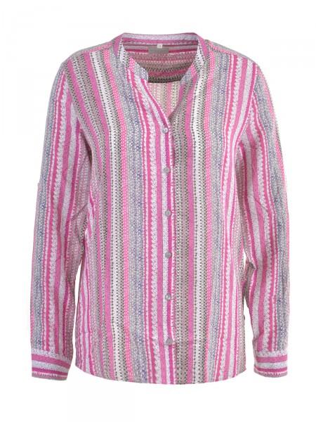 MILANO ITALY Damen Bluse, pink-grau