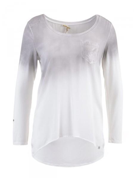 KEY LARGO Damen Shirt, grau-weiß