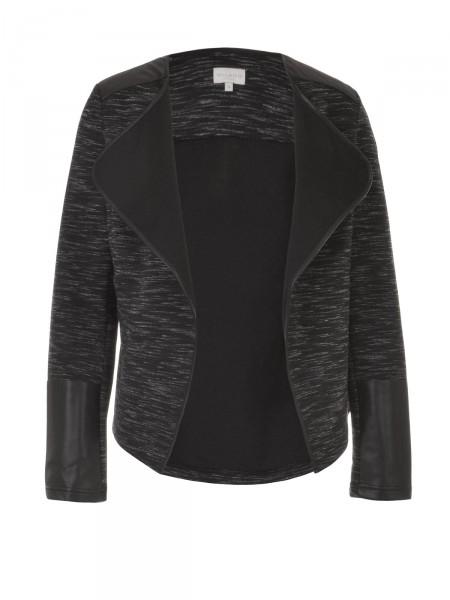 MILANO ITALY Damen Blazerjacke, schwarz-grau