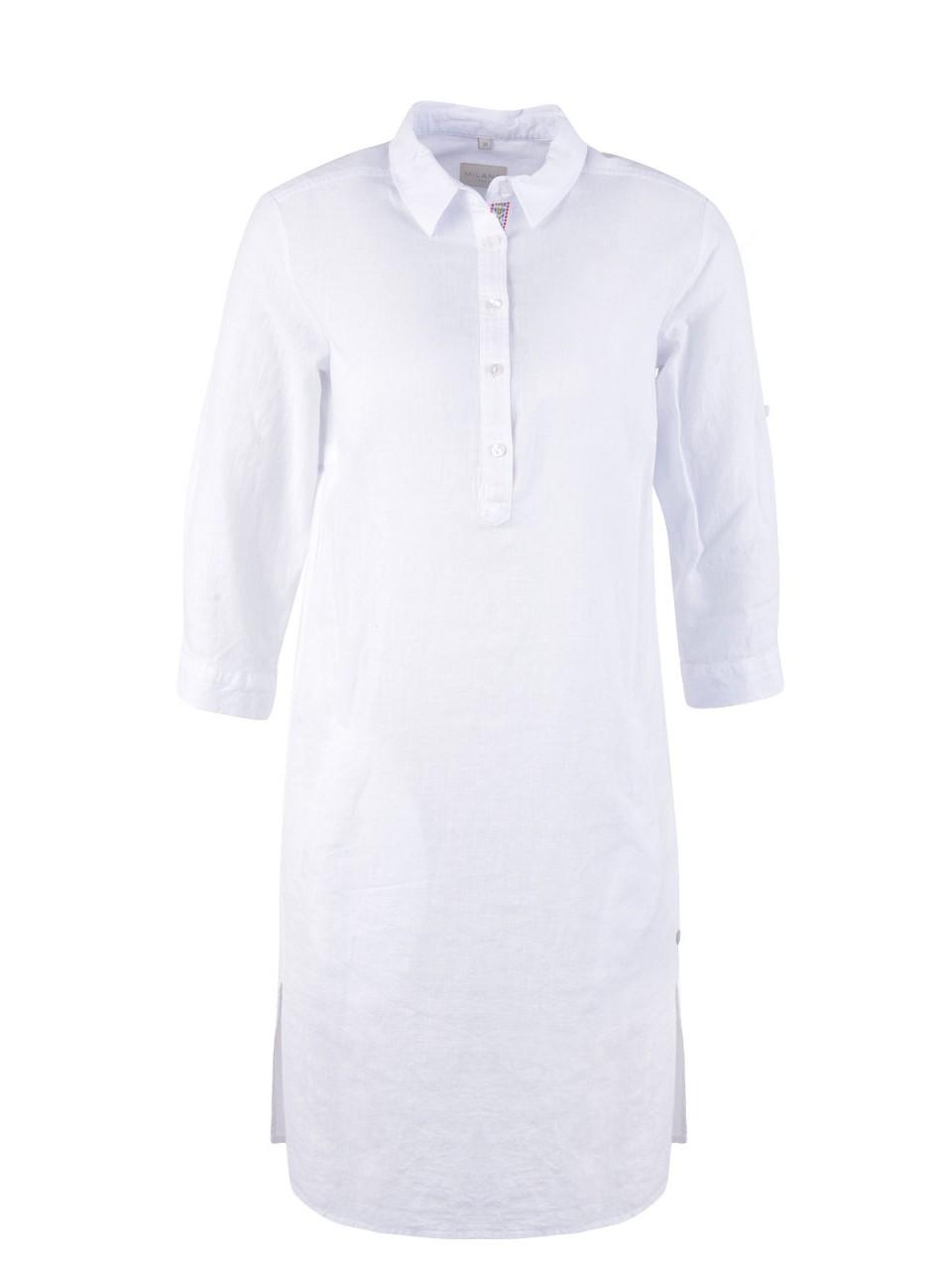 Kleider - MILANO ITALY Damen Kleid, weiß  - Onlineshop Designermode.com