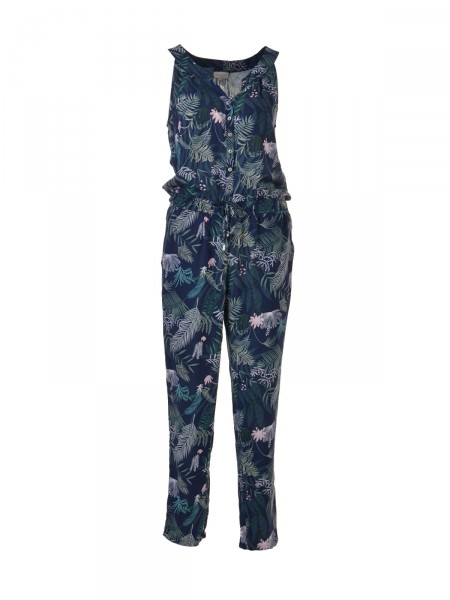 MILANO ITALY Damen Jumpsuit, navy-grün