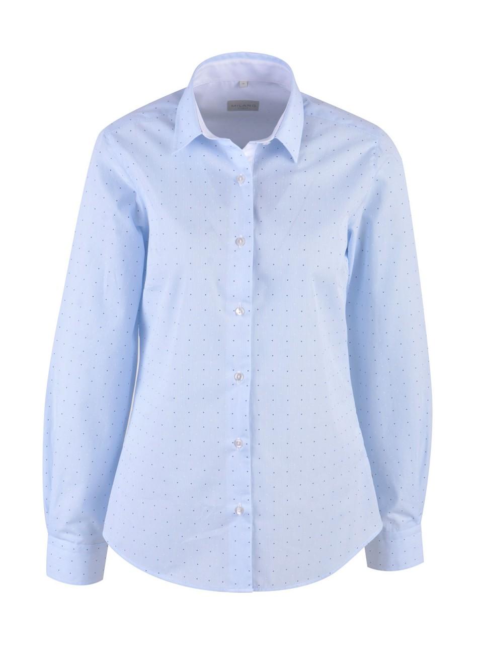 Oberteile - MILANO ITALY Damen Bluse, hellblau  - Onlineshop Designermode.com