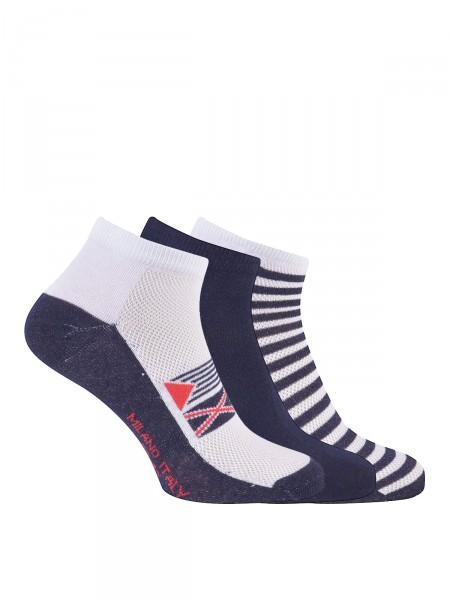 MILANO ITALY Sneaker Socken 3er Pack, marine
