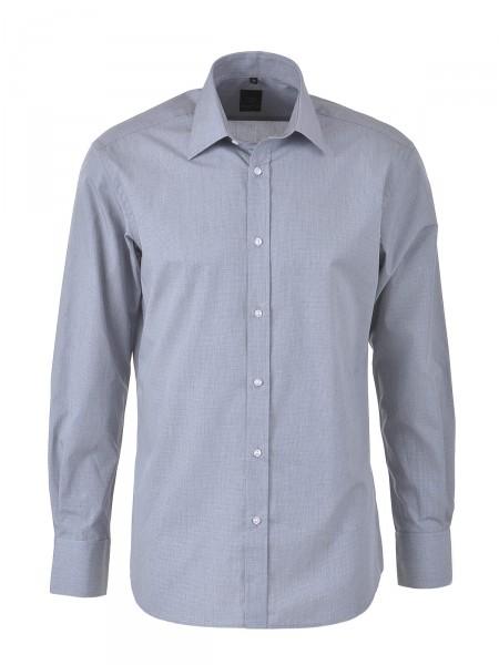 MILANO ITALY Herren Hemd, dunkelgrau-weiß