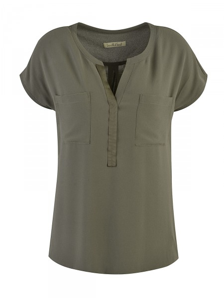 SMITH & SOUL Damen Bluse, grün