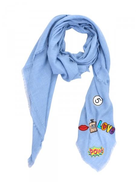 HEARTKISS Damen Tuch, blau