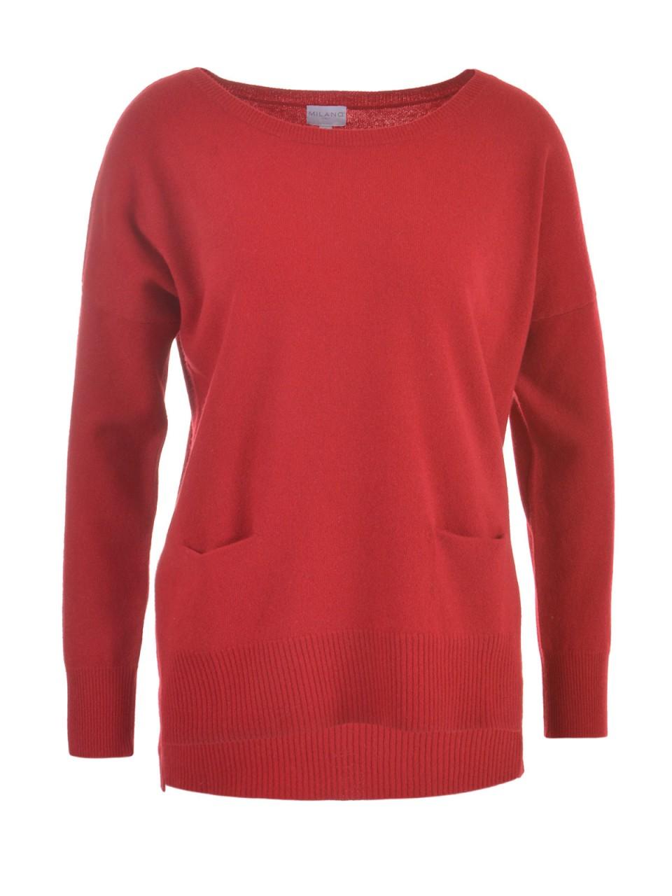 milano-italy-damen-pullover-rot