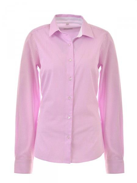 MILANO ITALY Damen Bluse, pink-weiß kariert