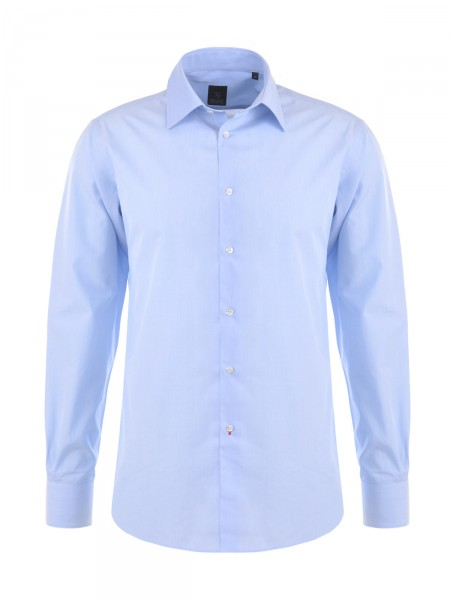 MILANO ITALY Herren Hemd Slim Fit, blau