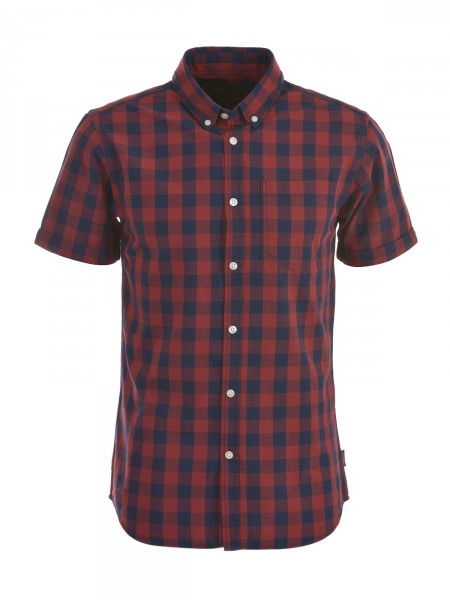 JACK & JONES Herren Hemd, rot-navy