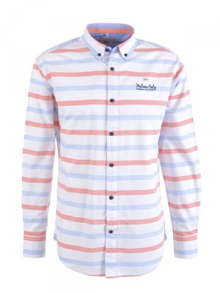 MILANO ITALY Herren Hemd, weiß-orange
